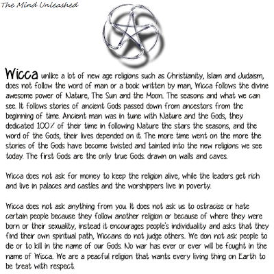a comparison of wicca and paganism Traditional witchcraft in britain is very different from the more modern wiccan religion understanding the differences brings understanding of both paths.