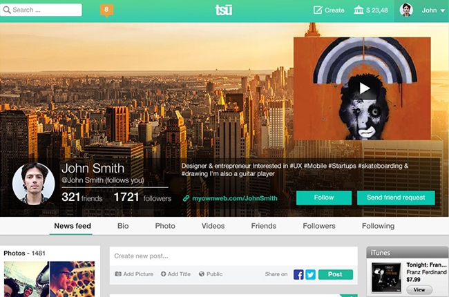 Tsu: The First Social Network Where Users Own Their Content – And Get Paid For It