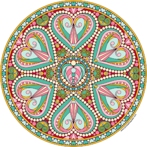 mandala color healing valentine love heart spirit