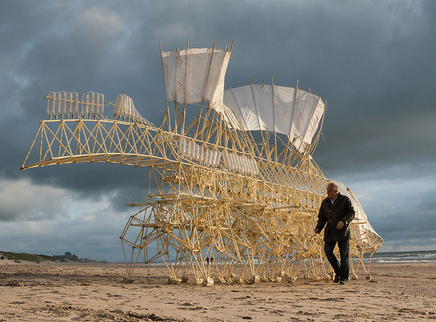 wind-powered kinetic sculptures