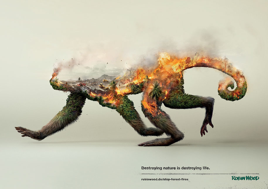 Destroying Nature is Destroying Life rainforest