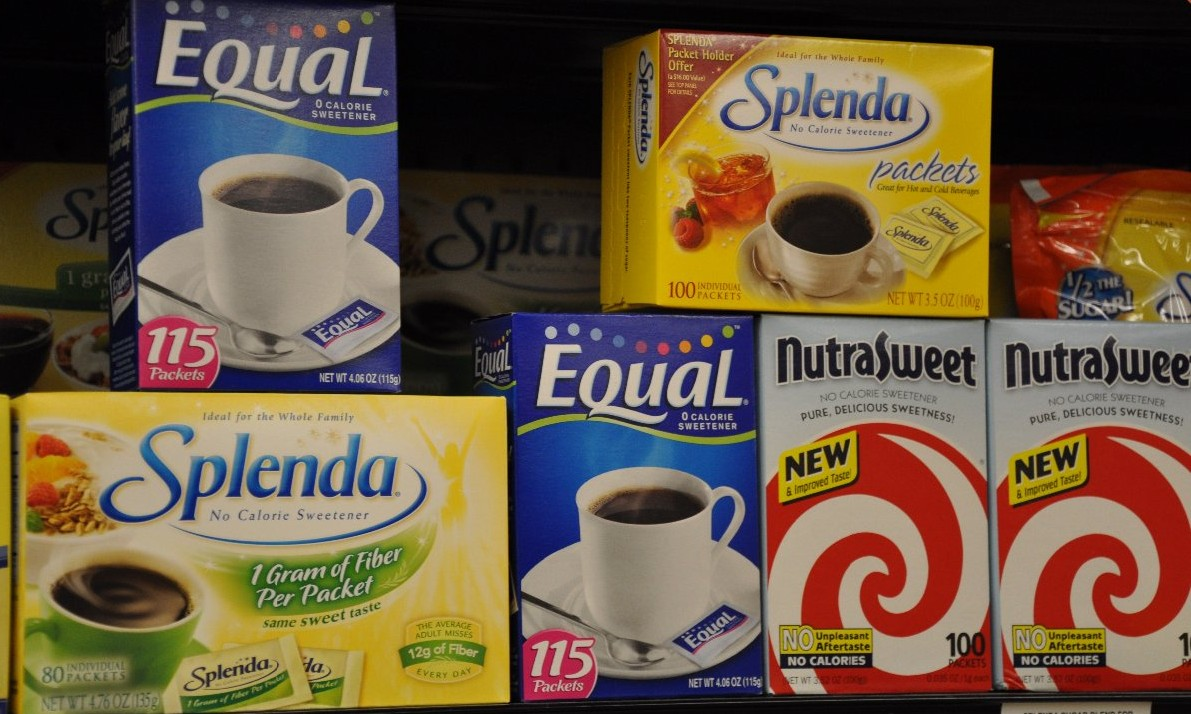 Aspartame is found in all of these artificial sweeteners. Source