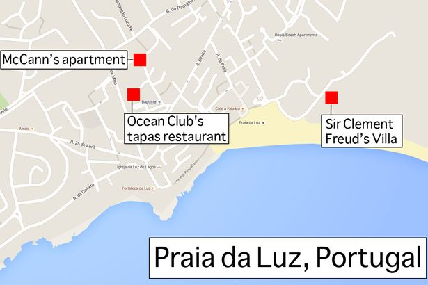 mccanns-and-clement-freuds-locations-in-praia-da-luz-portugal-map