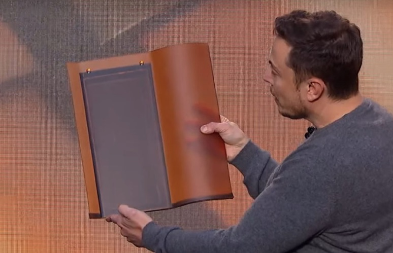 Elon Musk Displaying Solar Roof Material Said to Be Cheaper than a 'Dumb' Roof