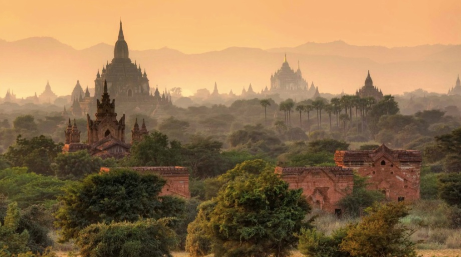 Bagan is a city with the highest concentration of Buddhist temples and stupas in the world. It is a UNESCO World Heritage site.