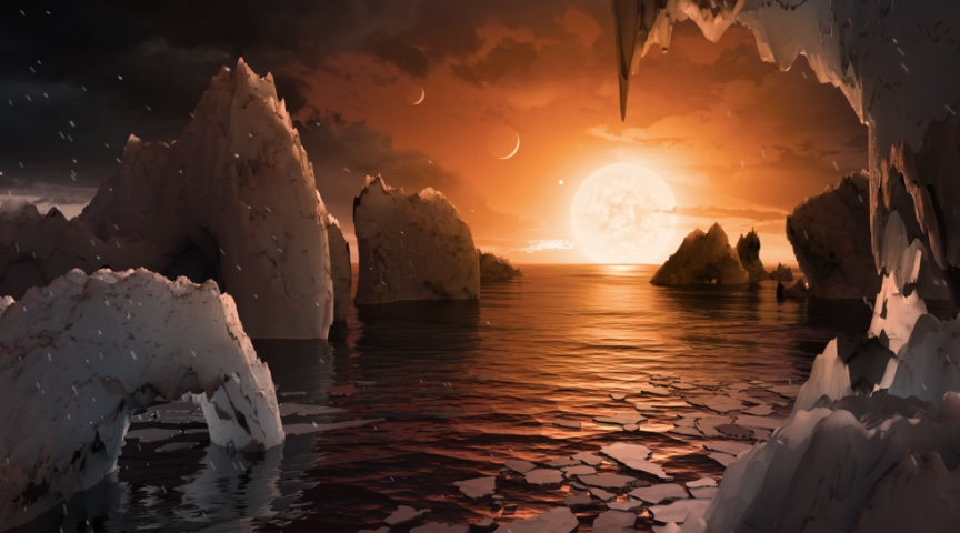 Artist's Rendering of a Trappist-1 Planet