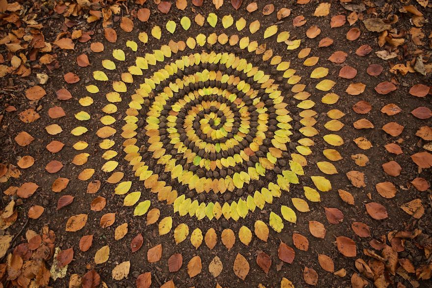 Artist Spends Hours Creating Natural Mandalas, And He's Hoping You Will Find Them James-Brunt-Nature-Mandalas-4