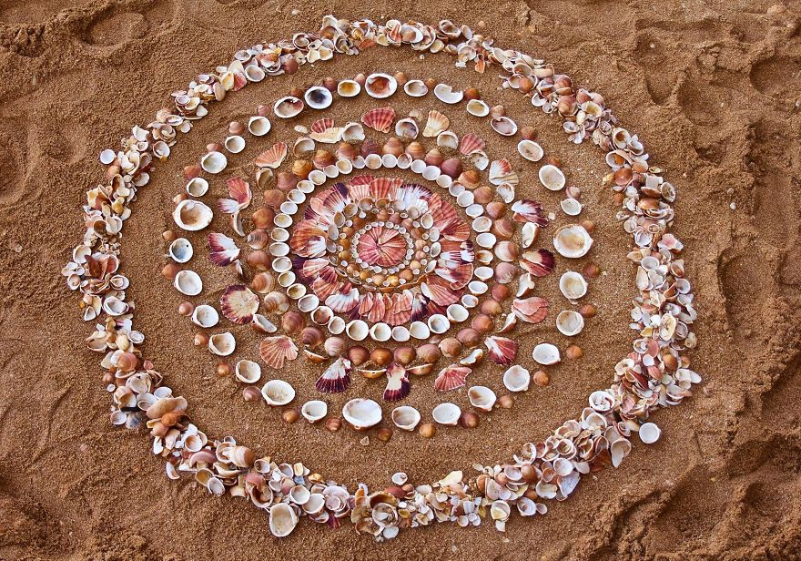 Artist Spends Hours Creating Natural Mandalas, And He's Hoping You Will Find Them James-Brunt-Nature-Mandalas-5