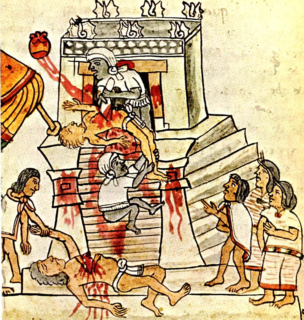 7 Ancient Societies That Ritualistically Sacrificed Humans Codex_Magliabechiano_141_cropped