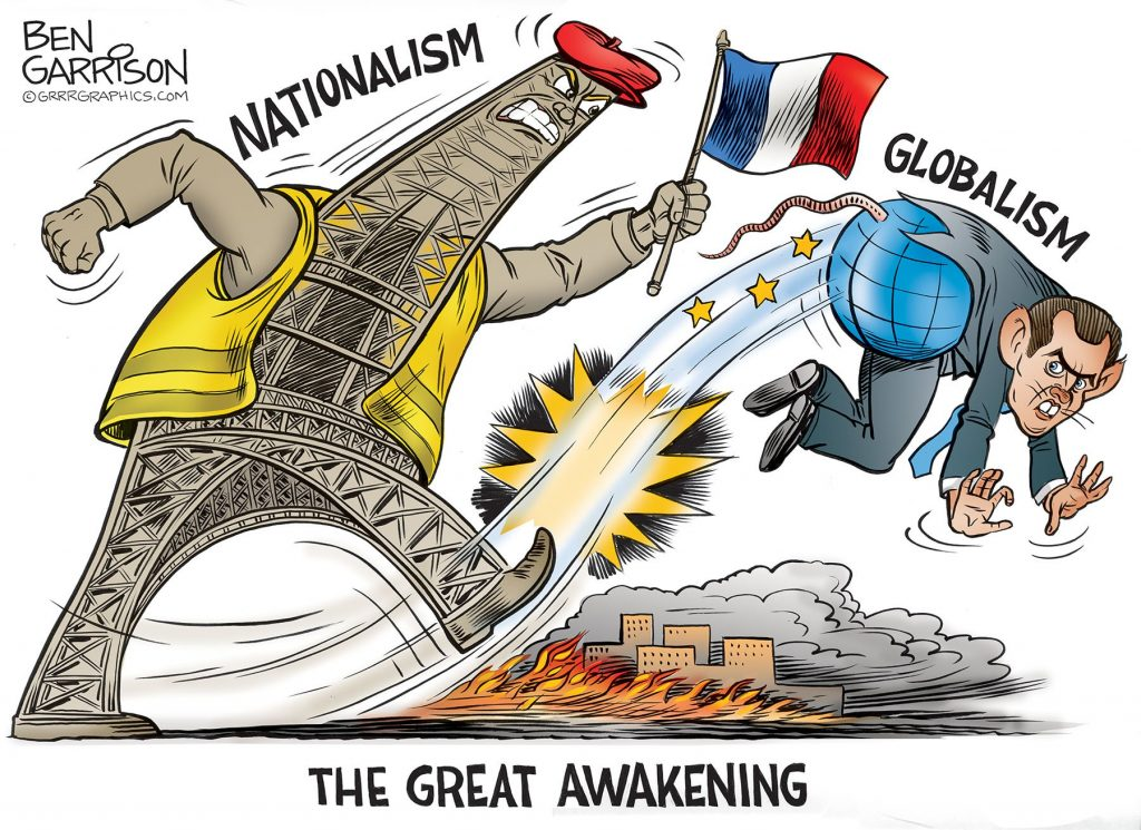 Yellow Vest Movement - Are We Heading Towards Real Systemic Change or Being Set Up? Nationalism_globlism_cartoon-1024x745