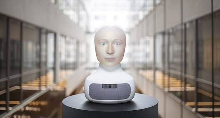 Robot Head Job Interview