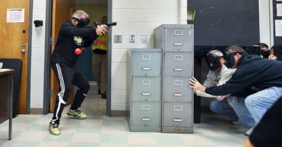 Terrified Teachers Shot 'Execution-Style' With Pellet Guns During Active Shooter Drill