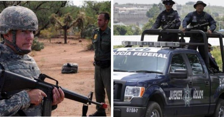 Mexican Soldiers Disarm US Troops