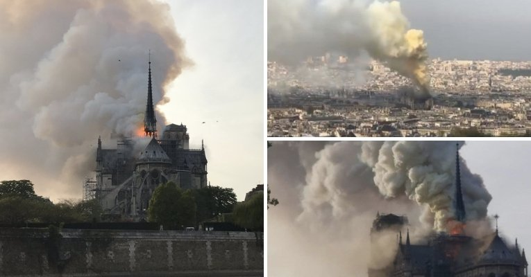 France's Historic Notre Dame Cathedral Engulfed in Flames Notre-dame