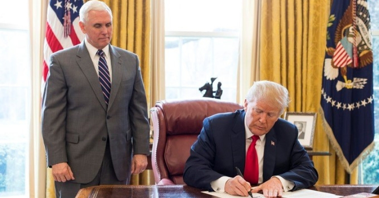 "Trump Signs Two Executive Orders Giving Himself ""Sole Approval"" on Pipelines and Roads"