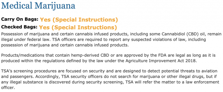 The TSA Just Updated Its Rules to Allow CBD Oil on Flights Screen-Shot-2019-05-27-at-8.17.27-AM-768x318