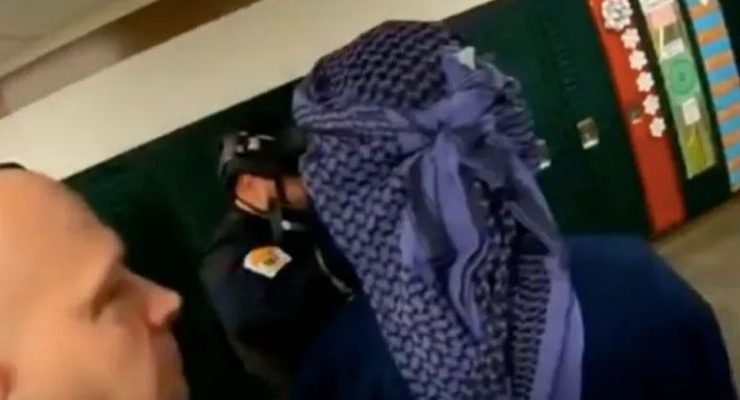 Outrage After School District's Active Shooting Drill Gunman Wears Middle Eastern Scarf