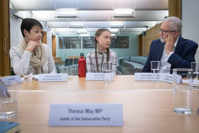 Youngest Nobel Prize Nominee in History Says 'Gift' of Asperger's is Helping Her Save the Planet Corbyn-lucas-Greta-Thunberg