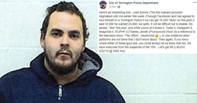 Fugitive Says He'll Surrender to Police If 15,000 People 'Like' His Wanted Poster on Facebook