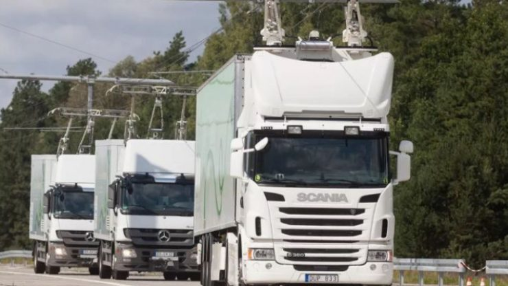 Germany Cables Highway Power Electric Trucks