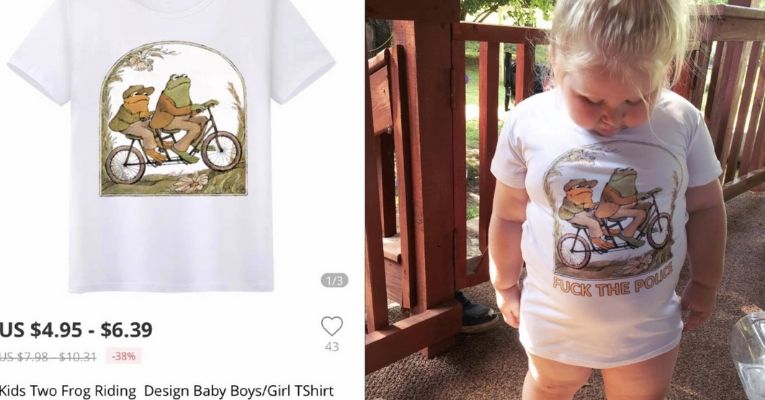 """Mom Orders Shirt 3-Year-Old """"Fuck the Police"""""""