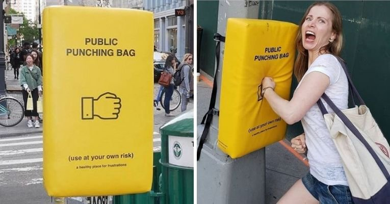 Public Punching Bags Manhattan