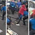 Man Attacking TSA Agents at Airport Security Checkpoint