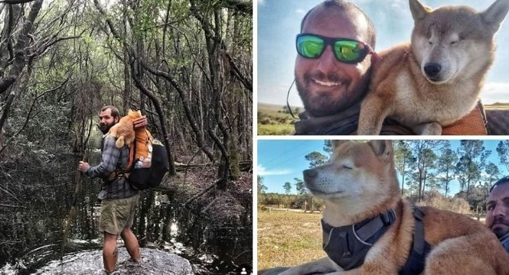 Man Carries Blind Dog 800 Miles
