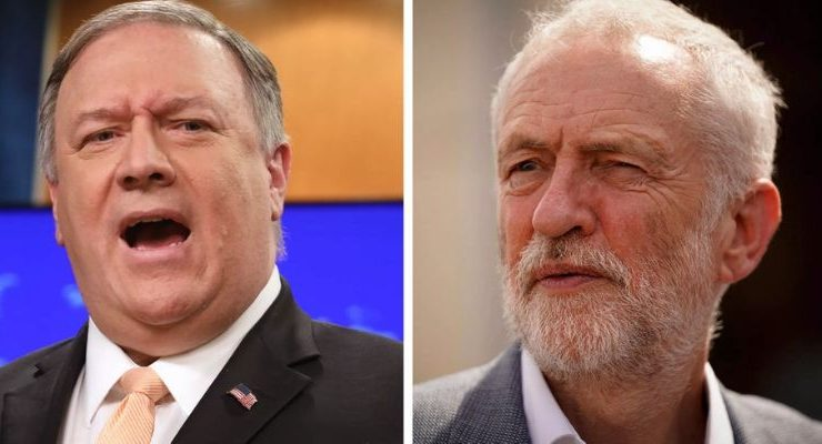Mike Pompeo Intervene British Democracy Stop Jeremy Corbyn