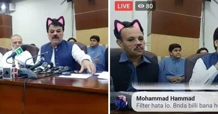Pakistan Livestreams Cat Filter