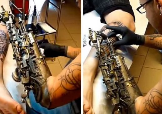 After Losing His Arm, Tattoo Artist Gets World's First Tattoo Gun Prosthetic