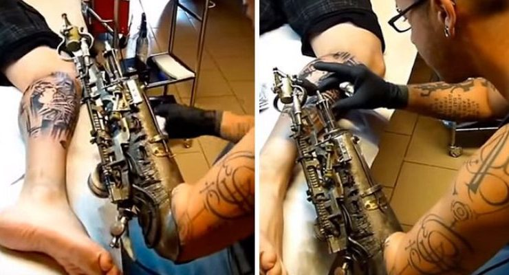 040101cc5 After Losing His Arm, Tattoo Artist Gets World's First Tattoo Gun Prosthetic