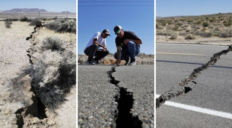 California Earthquake Crack Earth