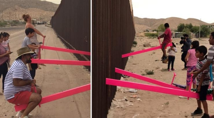 Families See-Saws US-Mexico Wall