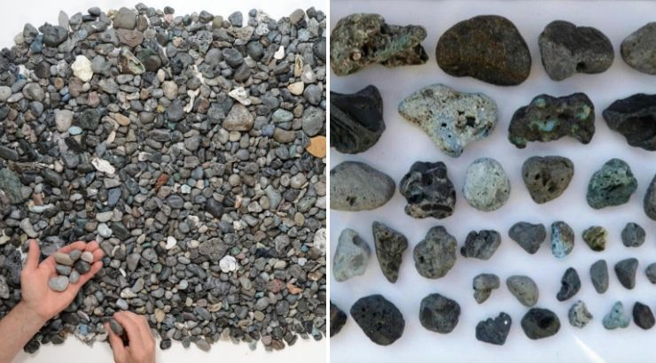 Plastic Pollution That Looks Exactly Like Rocks