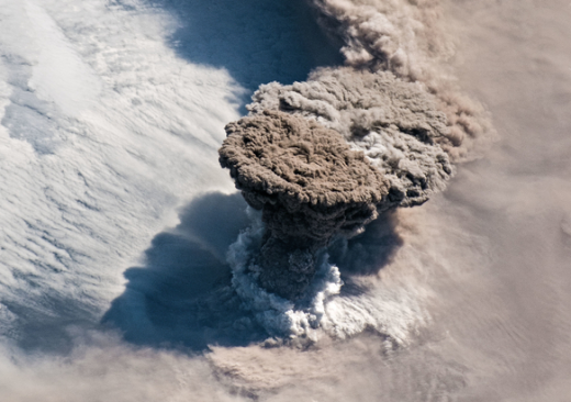 ISS Crew Photo Volcanic Eruption