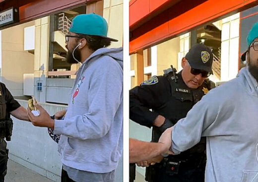 Man Detained Eating