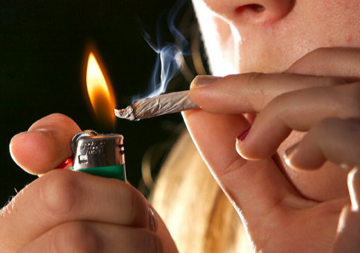 College Students Smoking Weed