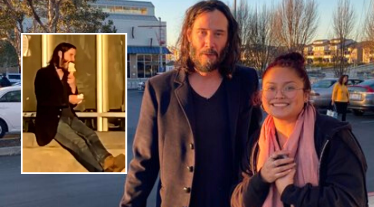 Keanu Reeves Grabs an Ice Cream