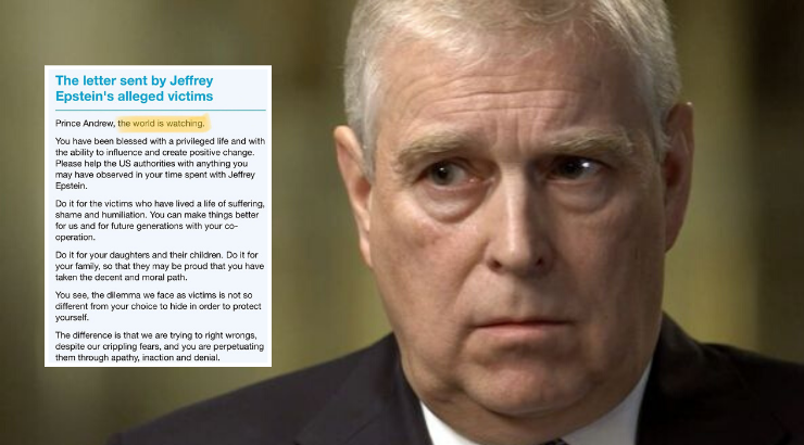 Prince Andrew Open Letter