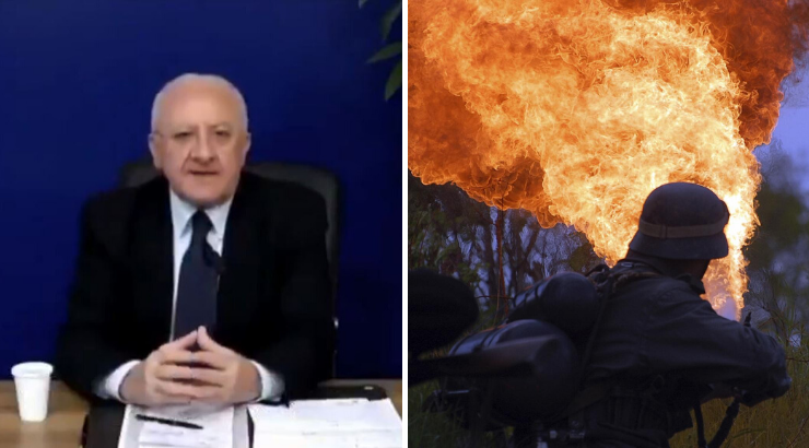 Italian Mayor Flamethrowers