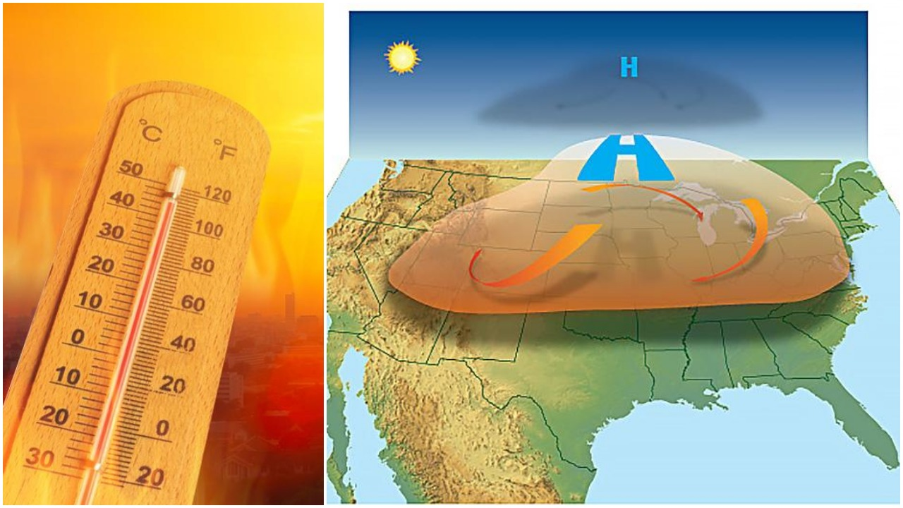 Extreme 'Heat Dome' to Fry U.S. With Record Temperatures from 90F to 121F for Several Weeks