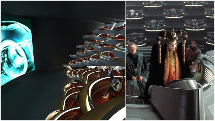 New Movie Theater In Paris Looks Like Star Wars Prequels Galactic Senate